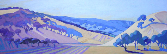 Photo: Round Valley Vista, oil on canvas by Nancy Roberts, copyright 2014. Private collection.