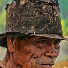 Old farmer by Chusnul Hidayat - People Portraits of Men