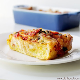Caprese Bread Pudding