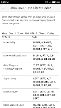 Download <b>Cheat Codes</b> for GTA 5 Games APK latest version app for ...