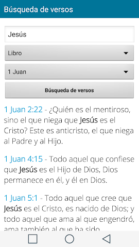 android Santa Biblia Español Screenshot 3
