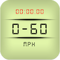 0-60 mph (0-100 km/h) GPS acceleration time icon