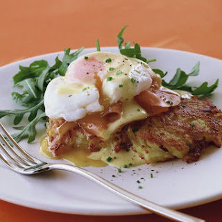 Potato Rosti With Smoked Salmon, Egg And Hollandaise
