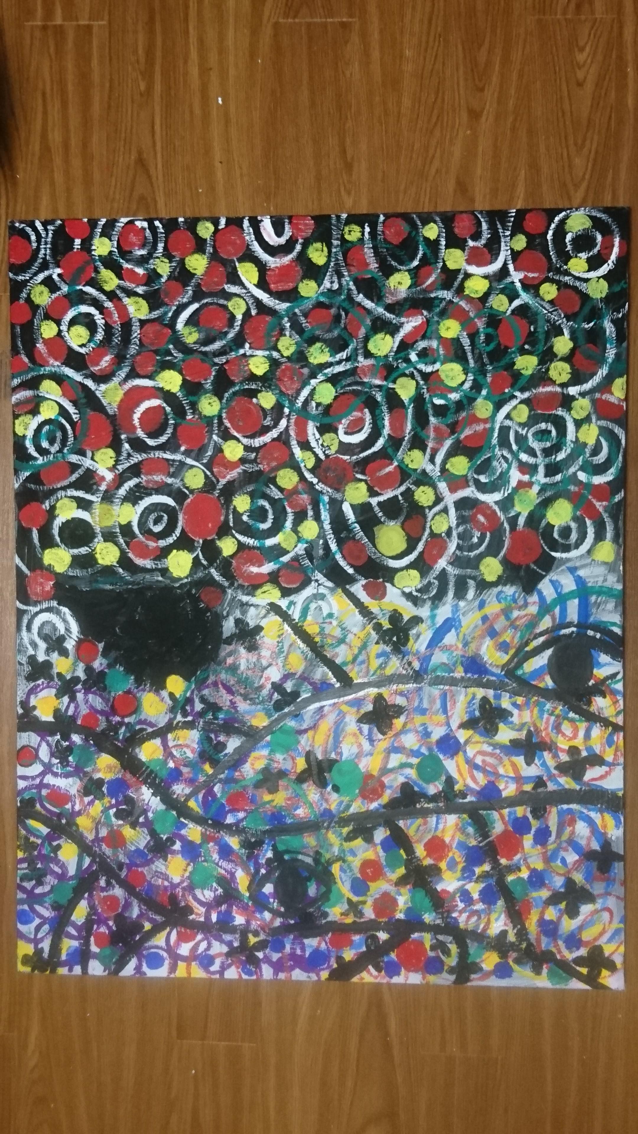 while stardusts are still seen : Yoko's drawing / 2017/12/01 - 2017/12/02 / 天に星が残っているうちに : 伊藤 洋子の絵