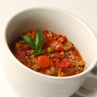 Ground Turkey Vegetable Soup.