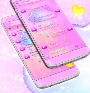 Pink SMS téma zdarma 2017 - náhled