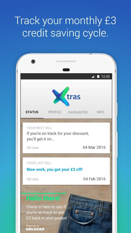 Tesco Mobile Xtras- screenshot