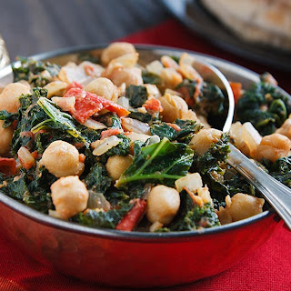 Curried Chickpeas and Kale.