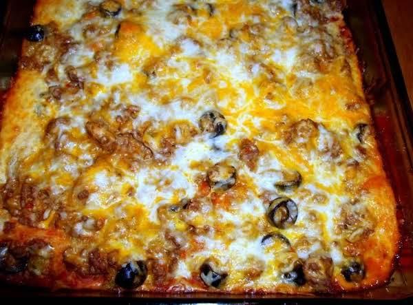 Enchilada Casserole, Cass's Recipe