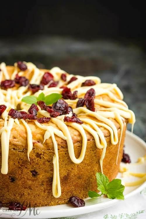 "Holiday Greek Yogurt Cranberry Pound Cake""Holiday Greek Yogurt Cranberry Pound Cake is..."