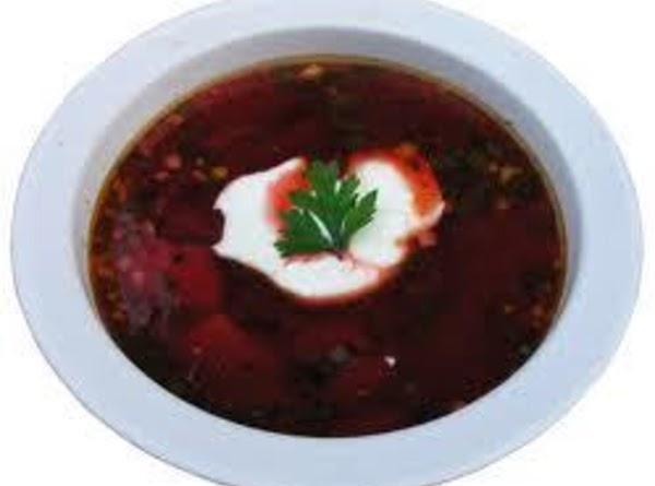 Borscht (cold Beet Soup) Recipe