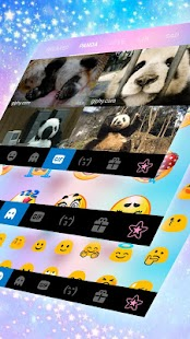 Kawaii Animal Face Keyboard Theme - náhled