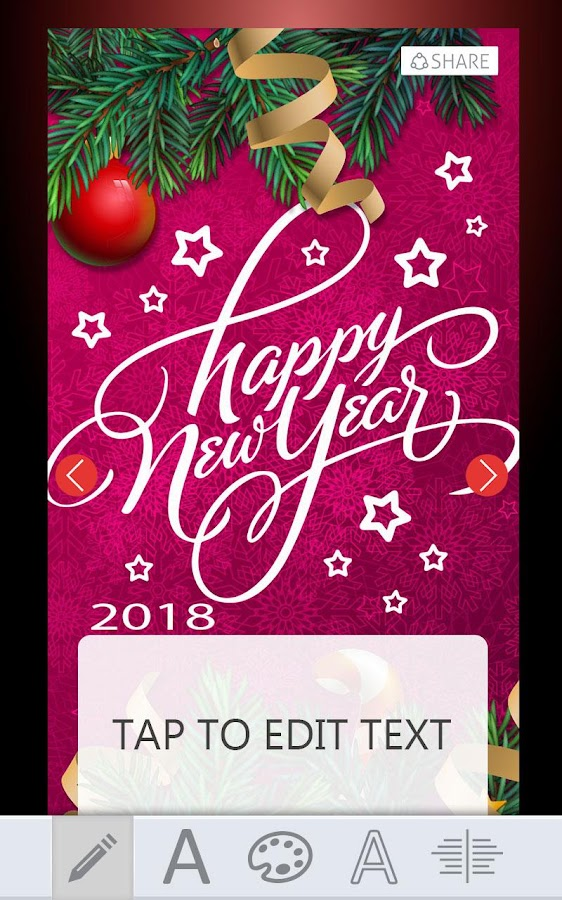 2018 New Year Greeting Cards - Android Apps on Google Play