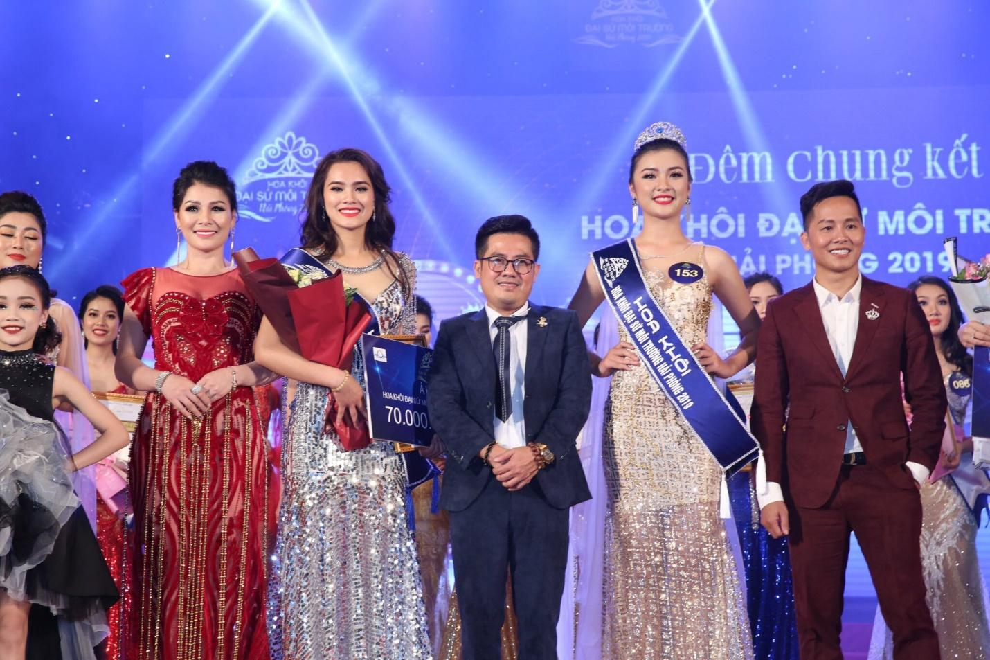 Hoa hậu doanh nhân Đàm Hương Thủy nổi bật khi ngồi ghế giám khảo Hoa khôi Đại sứ môi trường Hải Phòng năm 2019  - Ảnh 1