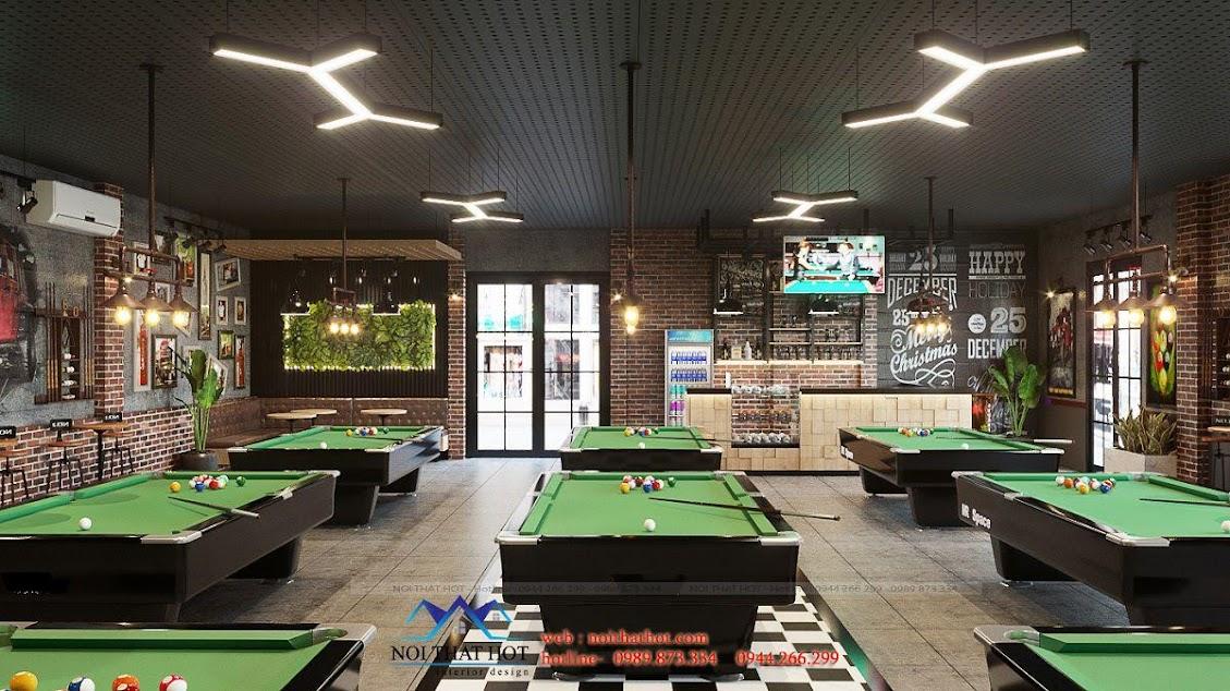 thiết kế quán billiards ấn tượng