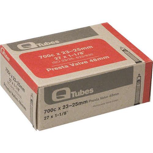 Q-Tubes 700c x 23-25mm 48mm Presta Valve Tube 126g