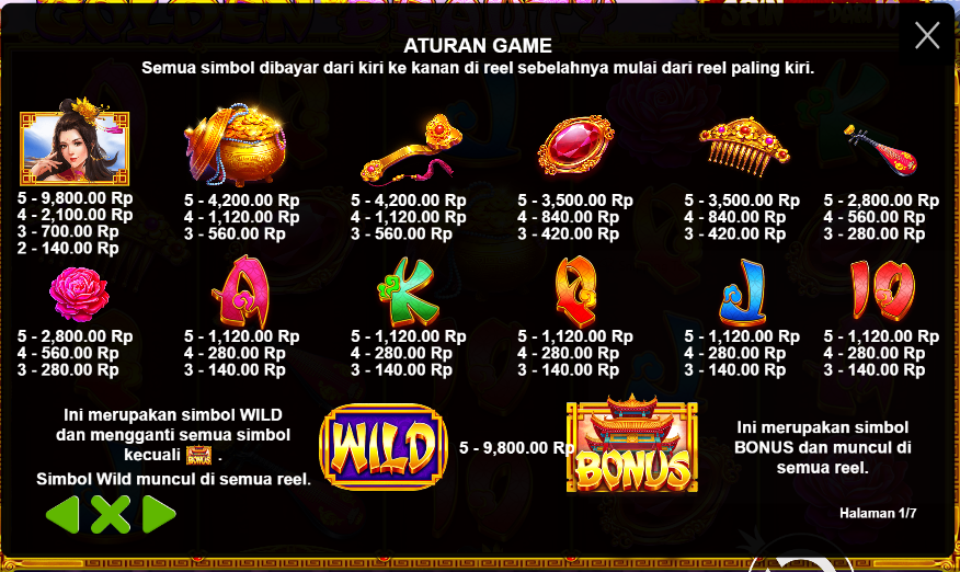 Informasi Peraturan Game Judi Slot Online Golden Beauty Dari Pragmatic Play