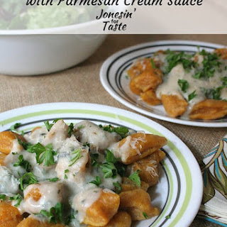 Pumpkin Gnocchi with Parmesan Cream Sauce