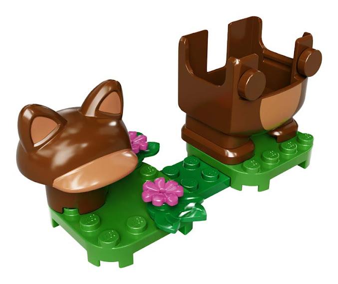 Contenido de Lego® 71385 Pack Potenciador: Mario Tanuki