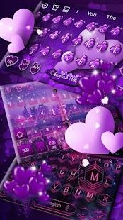 Purpurová balónová klávesnice - náhled