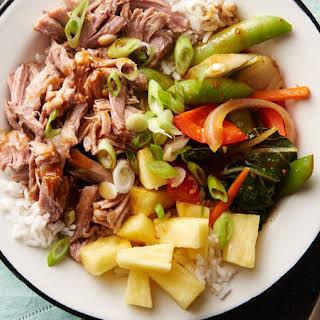 Slow-Cooker Hawaiian Pork Rice Bowls.