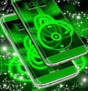 Záložka zelená neonová téma - náhled