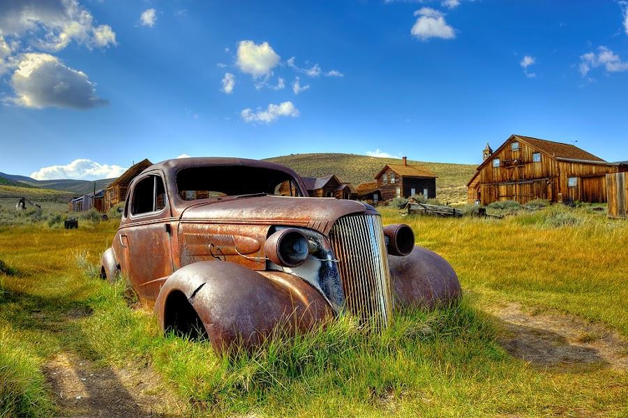 Past Transportation by Brent Clark - Transportation Automobiles ( car, old, automobile, bodie, auto, transportation, rust )