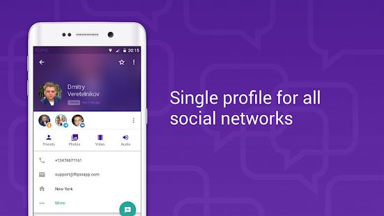SMS + Yahoo + VK + Messenger screenshot