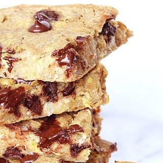 Chickpea Chocolate Chip Banana Bars [Vegan, Gluten-Free].