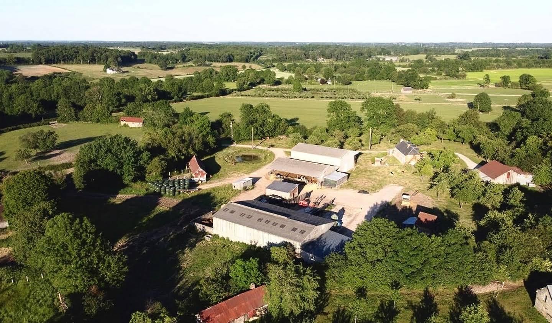 Farm house with outbuildings and garden Le Sap