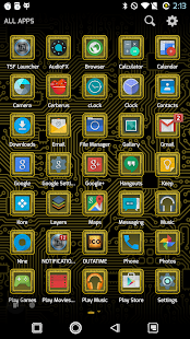 PCB Yellow ⁞ TSF Shell 3 Theme- screenshot thumbnail