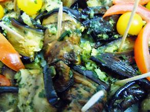 Photo: Rouleaux d' aubergines au parmesan sur pics
