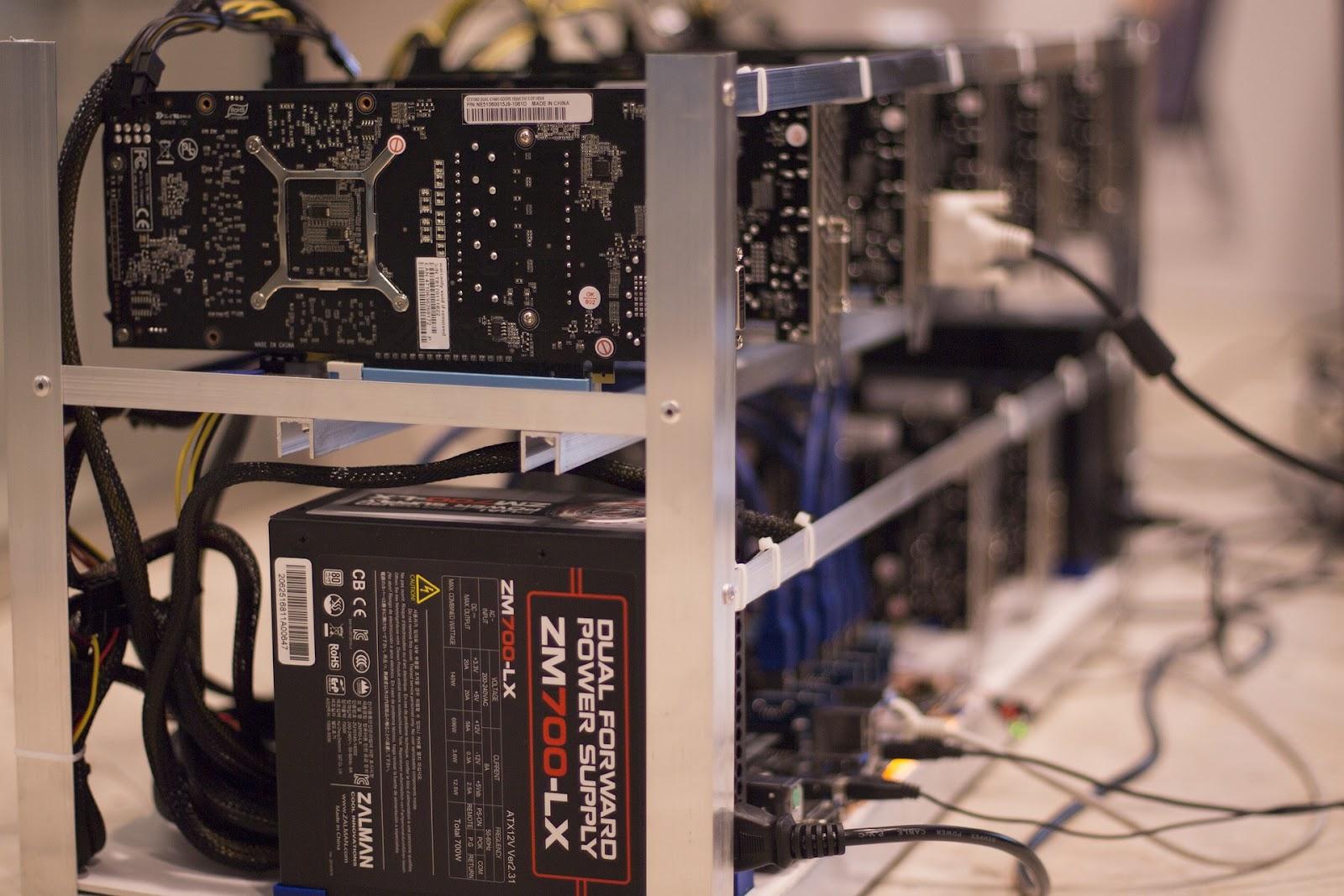 Trong quá trình khai thác bitcoin, thẻ hiển thị là một bộ phận rất quan trọng