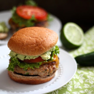 Jalapeno Turkey Burgers with Cheddar & Guacamole