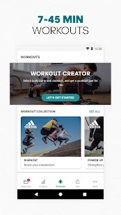 adidas Training by Runtastic - Fitness Workouts Screenshot