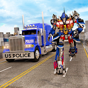 Police Robot Truck Simulation: Shooting Games