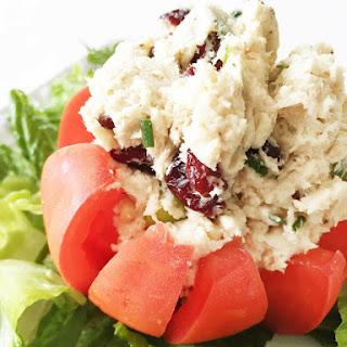 Healthified Chicken Salad Stuffed Tomato