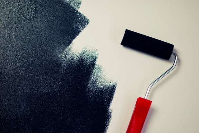 black, paint, painting
