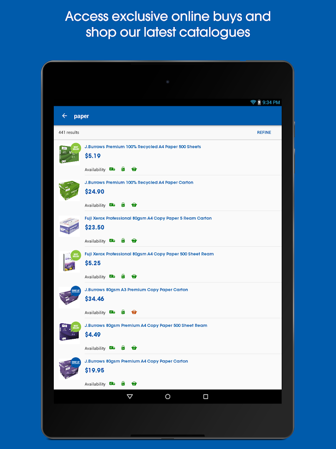 Officeworks- screenshot