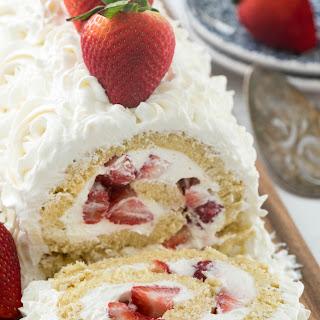 Strawberry Shortcake Cake Roll