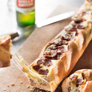 Pizza Dip Stuffed Baguette