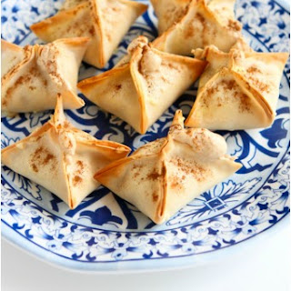 Baked Tart Cherry & Cream Cheese Wontons