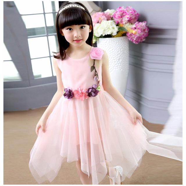 Asymetryczna sukienka dla dziewczynki
