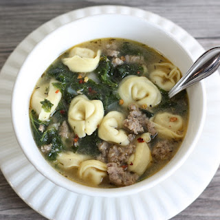 Slow Cooker Tortellini Soup with Kale