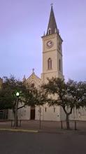 Photo: San Augustin (founded 1755) at dusk, Laredo