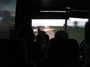 Photo: On the bus headed to the NASA Causeway for launch attempts 1 & 2.