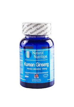 Koreang GInseng. 100Mg   Frasco X60Cap. Natural Nutrition