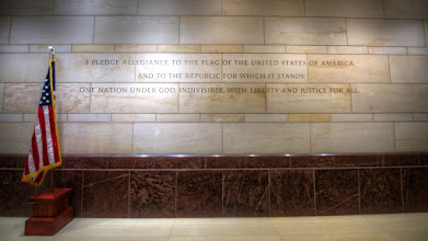 Photo: The Pledge  Found under the US Capitol Building