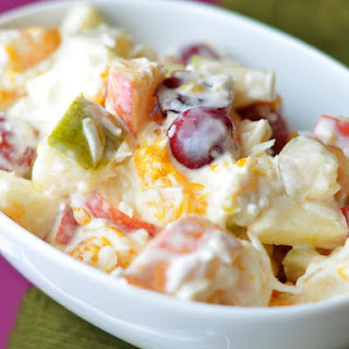 Fruit Salad With Sweet Creamed Curds