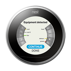 Nest thermostat equipment detected dehumidifier